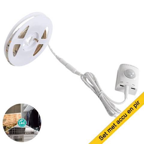 Led strip set met accu en sensor