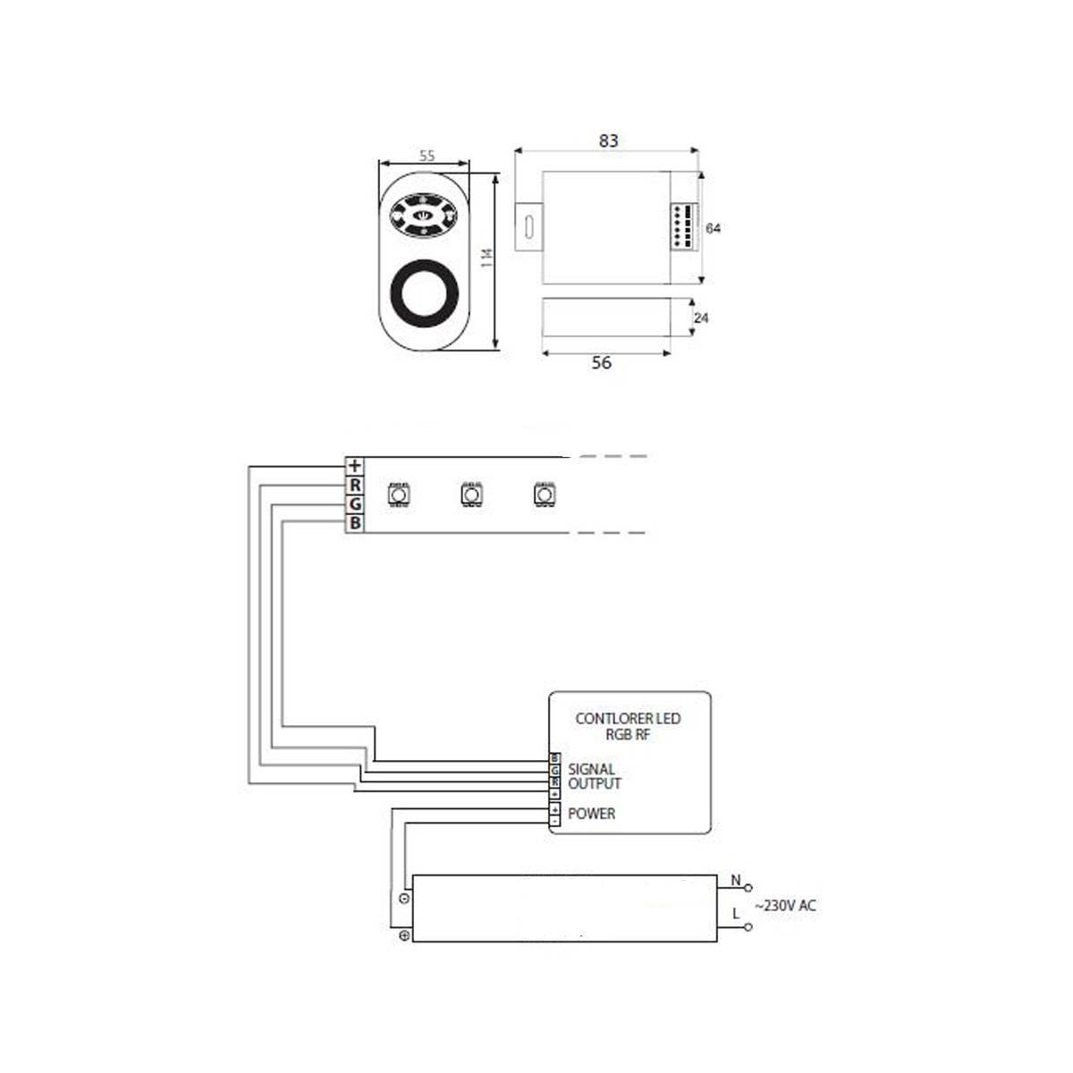 rgb-rf controller 12v