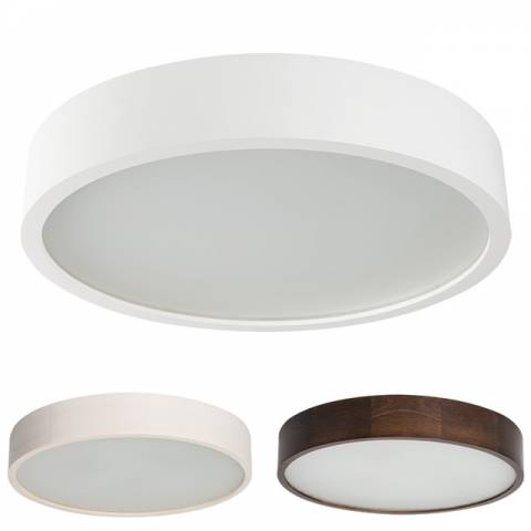 plafoniere led hout rond
