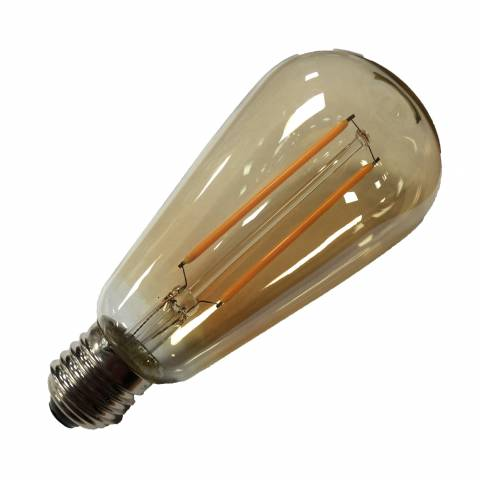 led lamp kaars retro std goud E27 2W